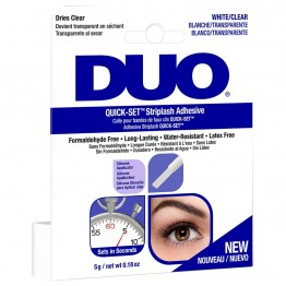 DUO Quick-Set Striplash Adhesive - White/Clear