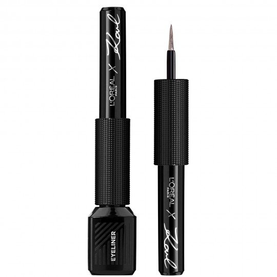 L'Oreal x Karl Lagerfeld Graphic Liquid Eyeliner - 12 Chic Rose Silver