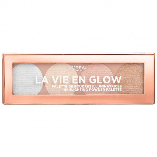 L'Oreal La Vie En Glow Highlighting Powder Palette - 02 Cool Glow