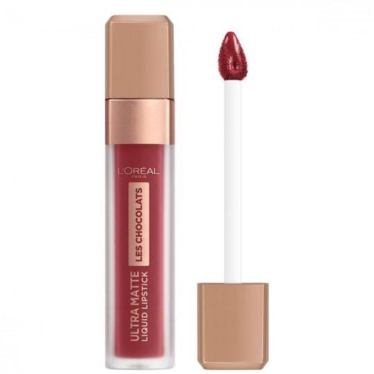 L'Oreal Les Chocolats Ultra Matte Liquid Lipstick - 864 Tasty Ruby