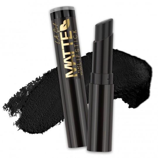 L.A. Girl Matte Flat Velvet Lipstick - GLC826 Raven