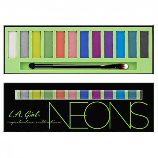 L.A. Girl Beauty Brick Eyeshadow Palette - GES334 Neons