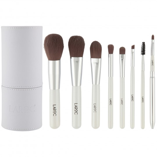 LaRoc 8 Piece Tube Brush Set - White