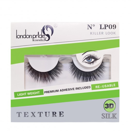 London Pride 3D Silk Texture Eyelashes - LP09 Killer Look
