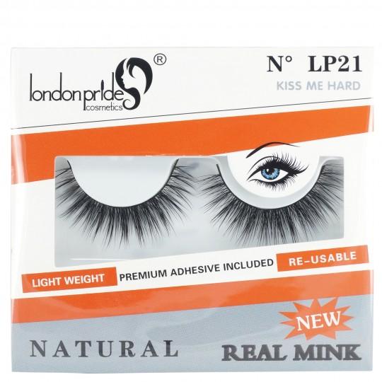 London Pride Real Mink Natural Eyelashes - LP21 Kiss Me Hard