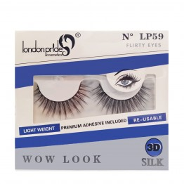 London Pride 3D Silk Wow Look Eyelashes - LP59 Flirty Eyes