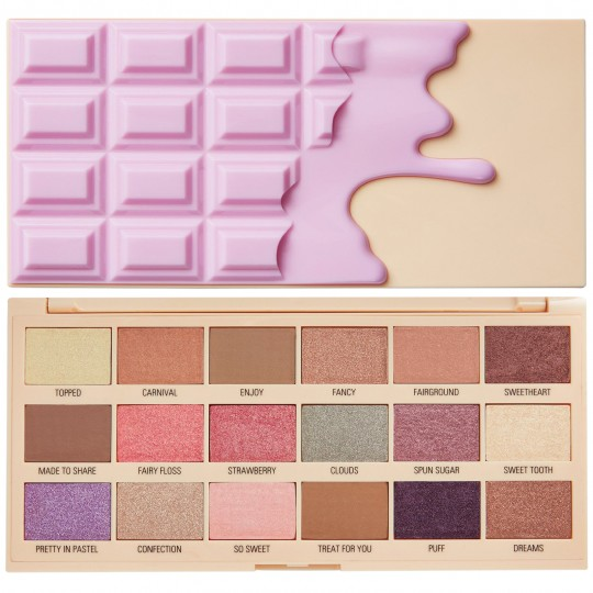 I Heart Revolution Cotton Candy Chocolate Eyeshadow Palette