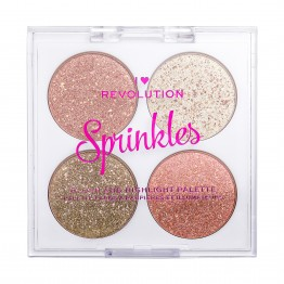 I Heart Revolution Sprinkles Blush & Highlight Palette - Confetti Cookie