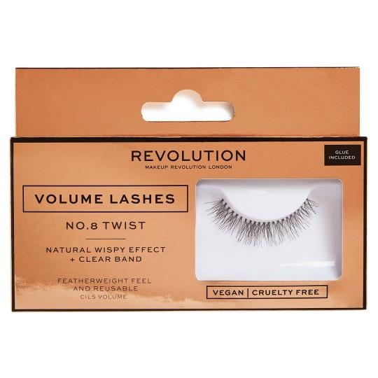 Makeup Revolution Volume Lashes - No.8 Twist