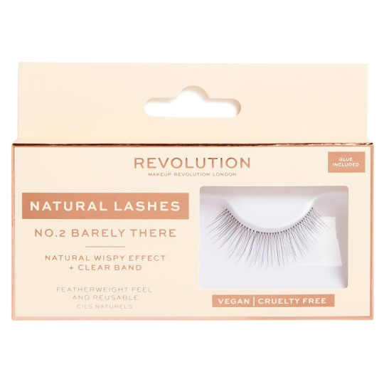 Makeup Revolution Natural Lashes - No.2 Barely There