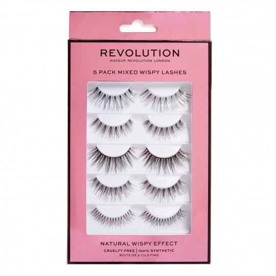 Makeup Revolution Mixed Wispy Lashes 5 Pack