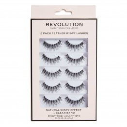 Makeup Revolution Feather Wispy Lashes 5 Pack