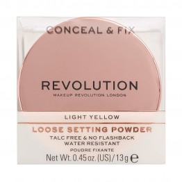 Makeup Revolution Conceal & Fix Setting Powder - Light Yellow