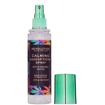 Makeup Revolution Calming Setting Spray with Canabis Sativa