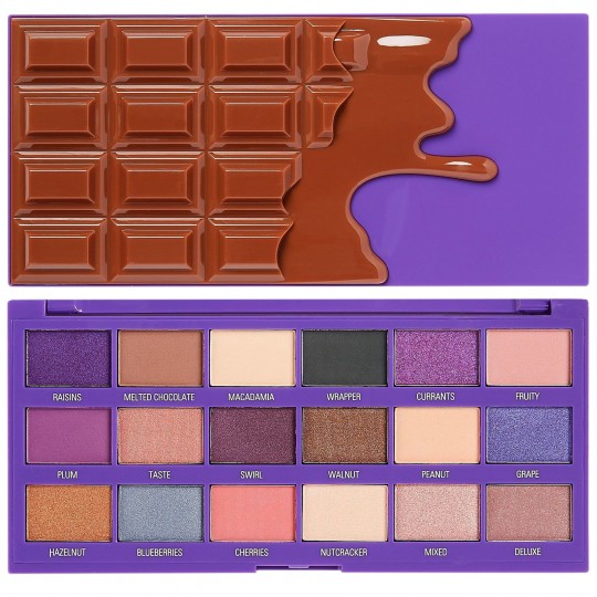 I Heart Revolution Fruit And Nut Chocolate Eyeshadow Palette