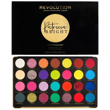 Makeup Revolution X Patricia Bright Eyeshadow Palette - Rich In Colour