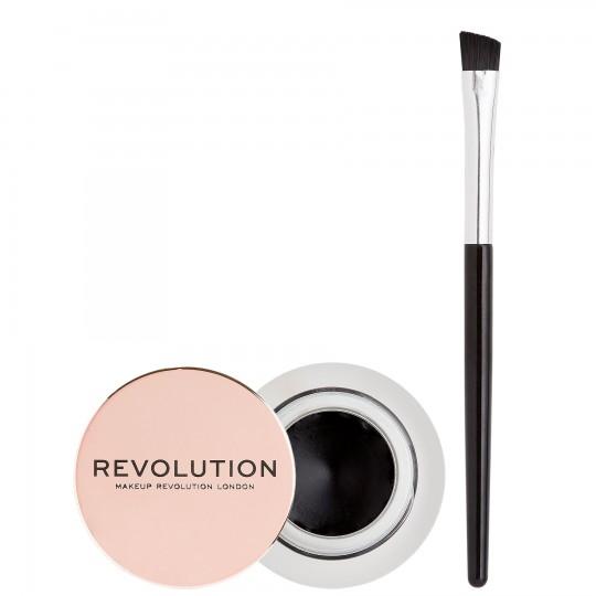 Makeup Revolution Gel Eyeliner Pot With Brush - Black