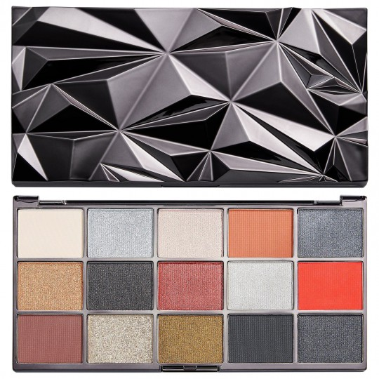 Makeup Revolution Glass Eyeshadow Palette - Black Ice