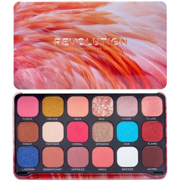 Makeup Revolution Forever Flawless Eyeshadow Palette - Flamboyance Flamingo