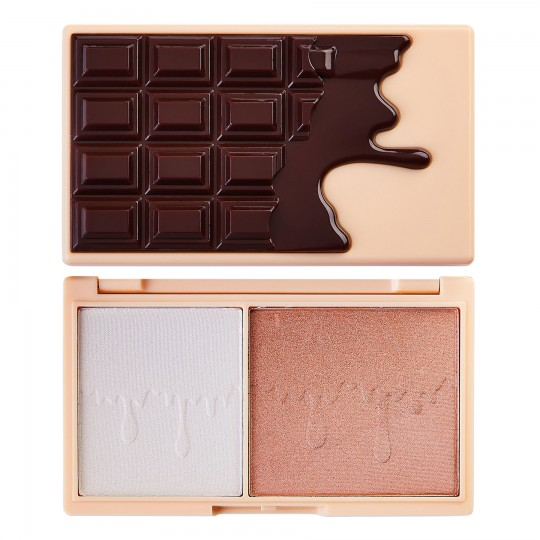 I Heart Revolution Mini Chocolate Blush And Highlight Palette - Fondue