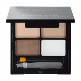 Makeup Revolution Focus & Fix Brow Kit - Light Medium