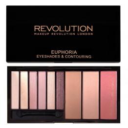 Makeup Revolution Euphoria Eyeshades & Contouring Palette - Bare