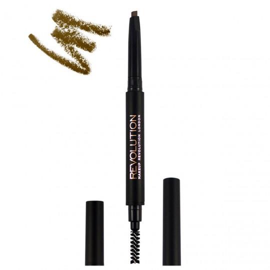 Makeup Revolution Duo Brow Definer - Light Brown