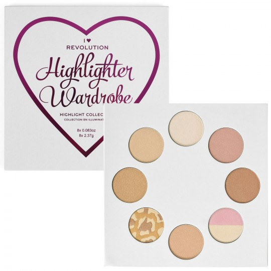 I Heart Revolution Highlighter Wardrobe