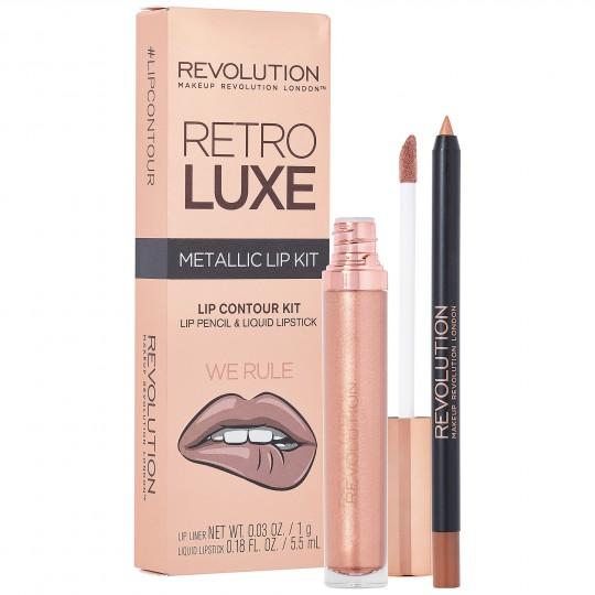 Makeup Revolution Retro Luxe Metallic Lip Kit - We Rule