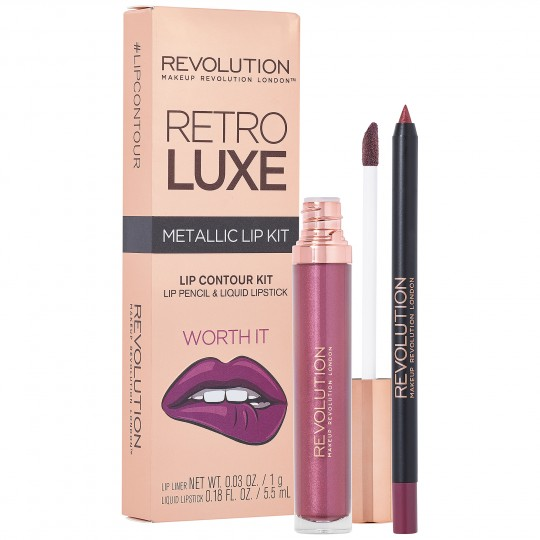 Makeup Revolution Retro Luxe Metallic Lip Kit - Worth It