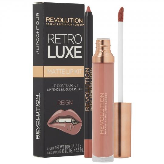 Makeup Revolution Retro Luxe Matte Lip Kit - Reign