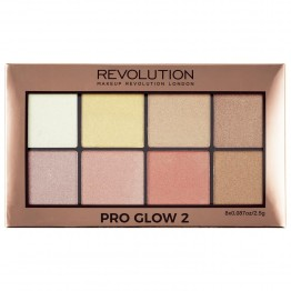 Makeup Revolution Pro Glow 2 Highlighter Palette