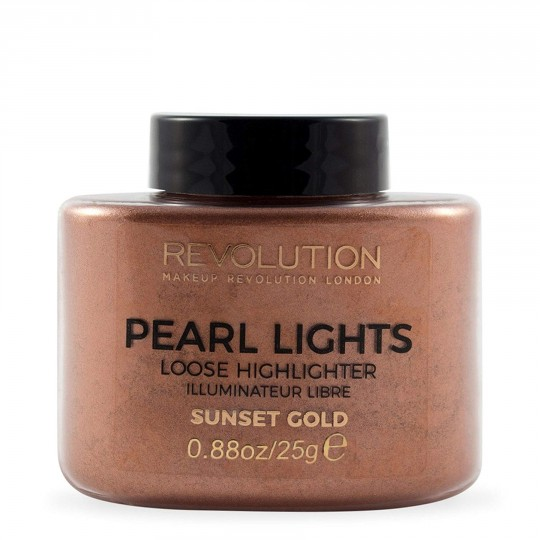 Makeup Revolution Pearl Lights Loose Highlighter - Sunset Gold