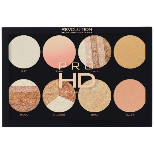 Makeup Revolution Pro HD Amplified Highlighter Palette - Brighter Than My Future