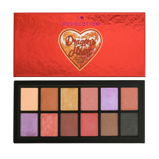 I Heart Revolution Dragons Heart Eyeshadow Palette