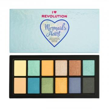 I Heart Revolution Mermaids Heart Eyeshadow Palette