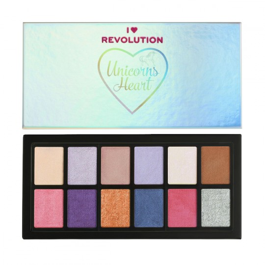 I Heart Revolution Unicorns Heart Eyeshadow Palette