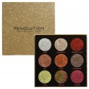 Makeup Revolution Pressed Glitter Palette - Midas Touch