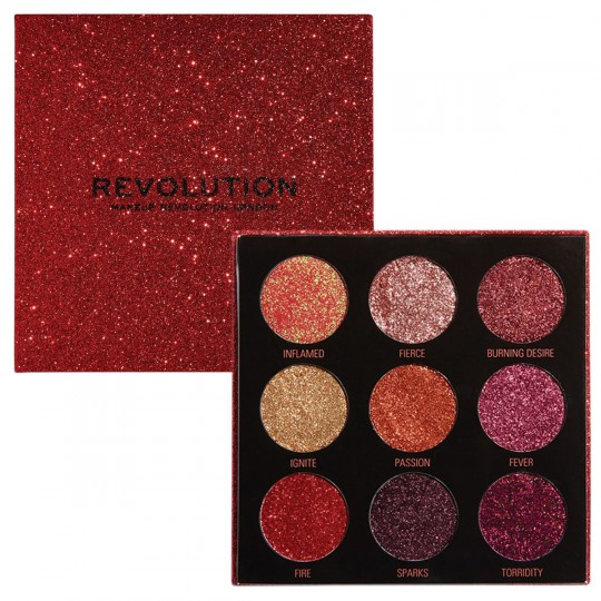 Makeup Revolution Pressed Glitter Palette - Hot Pursuit