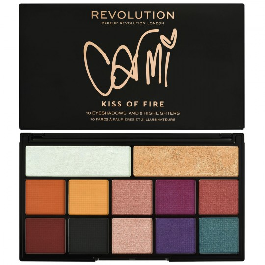 Makeup Revolution X Carmi Kiss Of Fire Palette