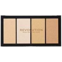 Makeup Revolution Re-Loaded Highlighter Palette - Lustre Lights Warm