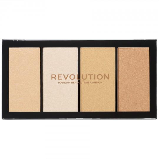 Makeup Revolution Re-Loaded Highlighter Palette - Lustre Lights Warm
