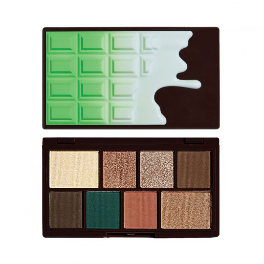 I Heart Revolution Mini Chocolate Eyeshadow Palette - Mint Choc