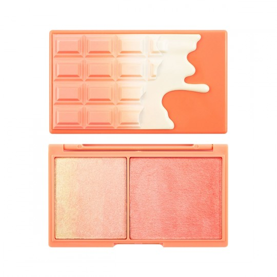 I Heart Revolution Mini Chocolate Blush And Highlight Palette - Peach And Glow