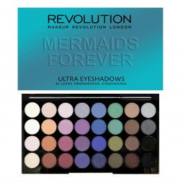 Makeup Revolution Ultra 32 Eyeshadow Palette - Mermaids Forever