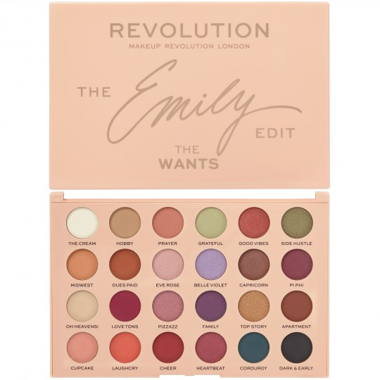 Makeup Revolution X The Emily Edit - The Wants Palette