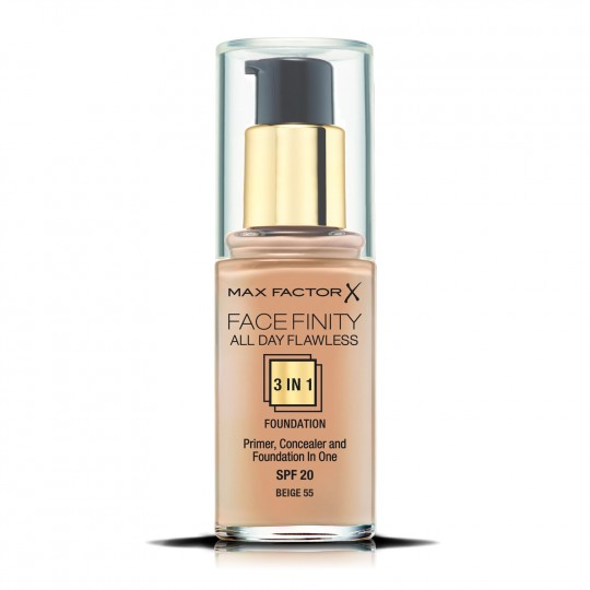 Max Factor Facefinity All Day Flawless 3-In-1 Foundation - 55 Beige