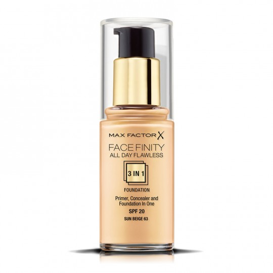 Max Factor Facefinity All Day Flawless 3-In-1 Foundation - 63 Sun Beige