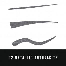 Max Factor Colour X-Pert Waterproof Eyeliner - 02 Metallic Anthracite