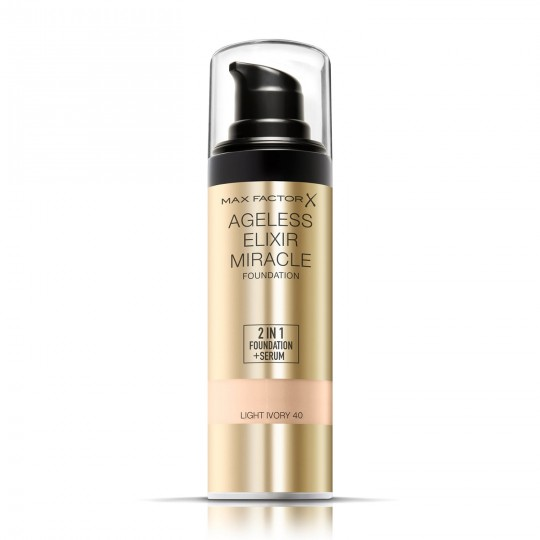 Max Factor Ageless Elixir Miracle 2-in-1 Foundation + Serum - 40 Light Ivory